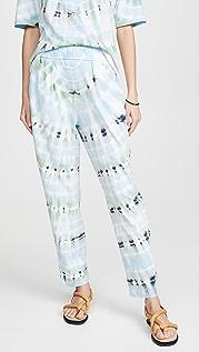 Raquel Allegra Простые брюки с рисунком в технике узелкового батика