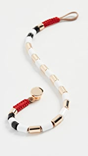 Roxanne Assoulin 白色镀金 U 型管型手链