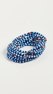 Roxanne Assoulin Patchwork Blue Bracelet