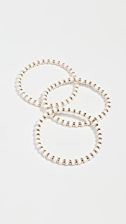 Roxanne Assoulin White Little Ones Bracelets