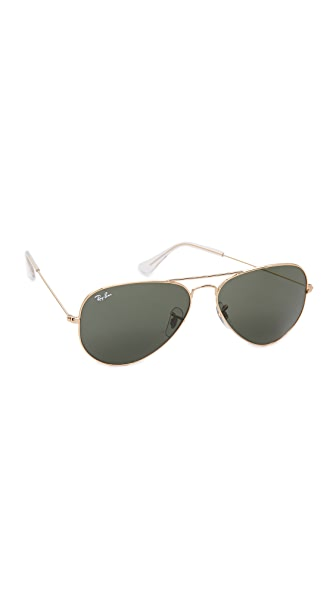 Ray-Ban Original Aviator Sunglasses - Gold/Green
