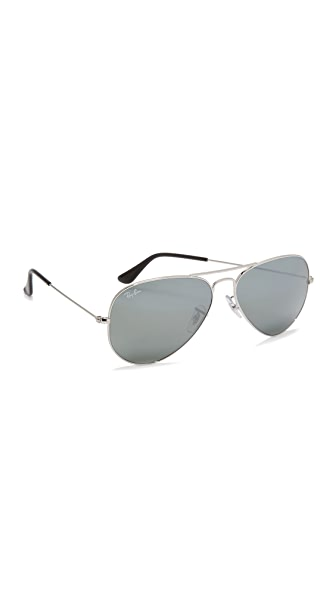 Ray-Ban Mirrored Original Aviator Sunglasses at Shopbop