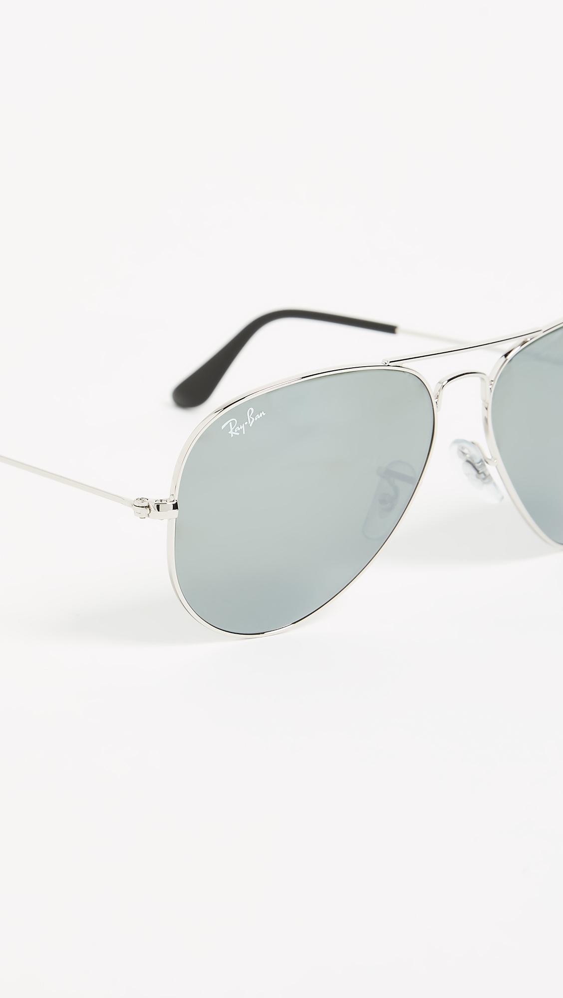Классические зеркальные солнцезащитные очки-авиаторы Ray-Ban  (RAYBN4005912208314)