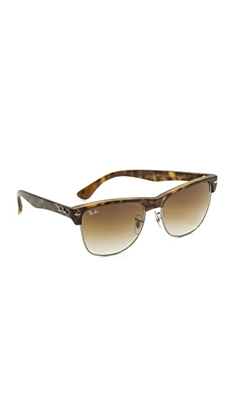 Ray-Ban Oversized Clubmaster Sunglasses at Shopbop