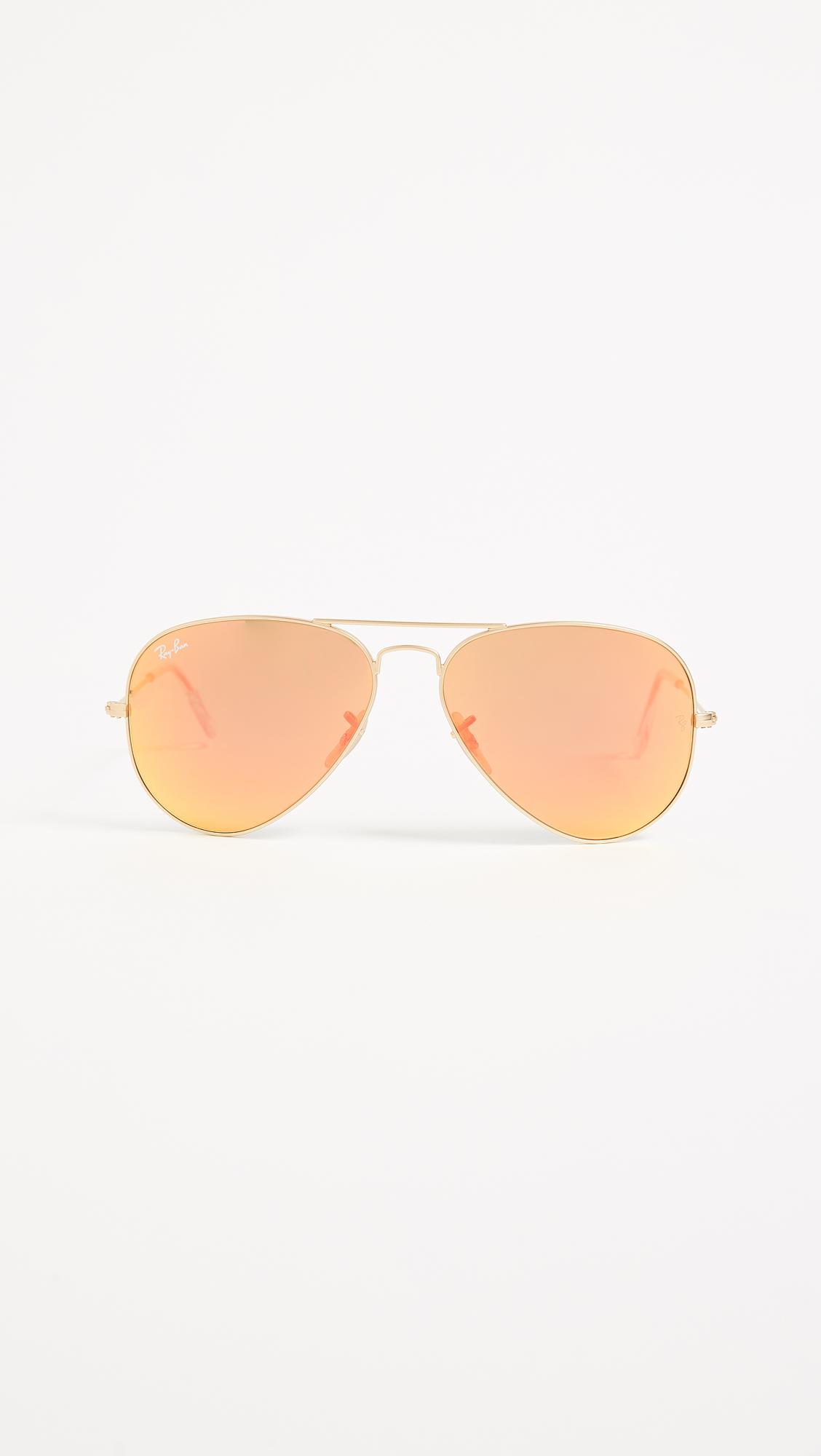 Matte SunglassesShopbop Rb3025 Ray Mirrored Classic Ban Aviator 76bgyf