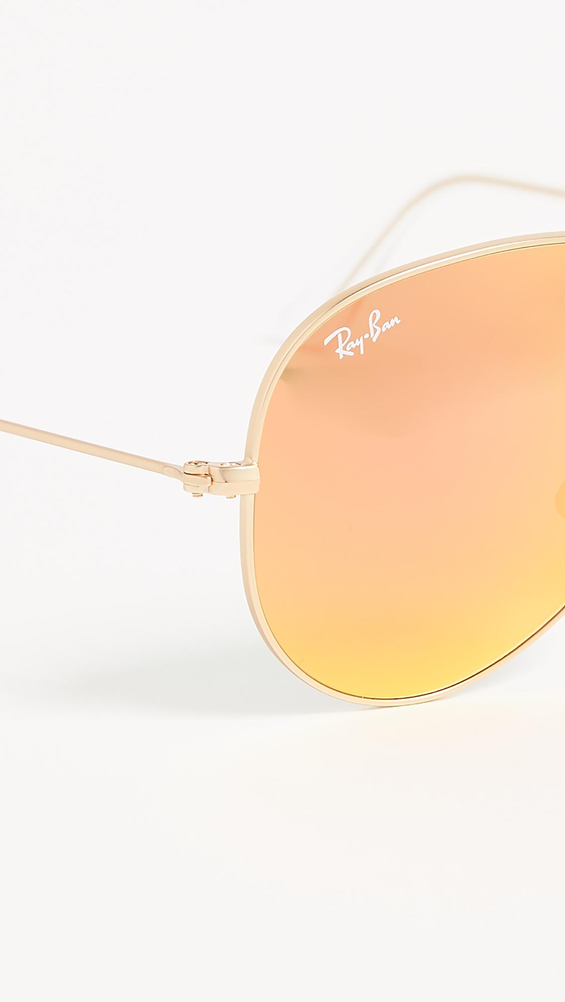 Классические солнцезащитные очки авиаторы с зеркальным матовым покрытием Ray-Ban  (RAYBN4009148459314)