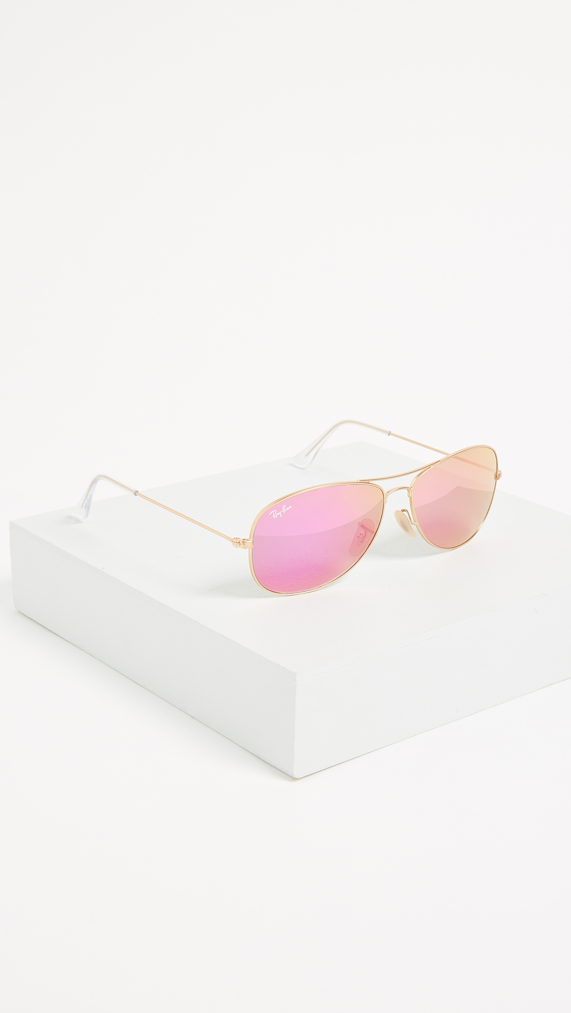 3adb69c65d Ray-Ban RB3362 Mirrored Shrunken Aviator Sunglasses   SHOPBOP
