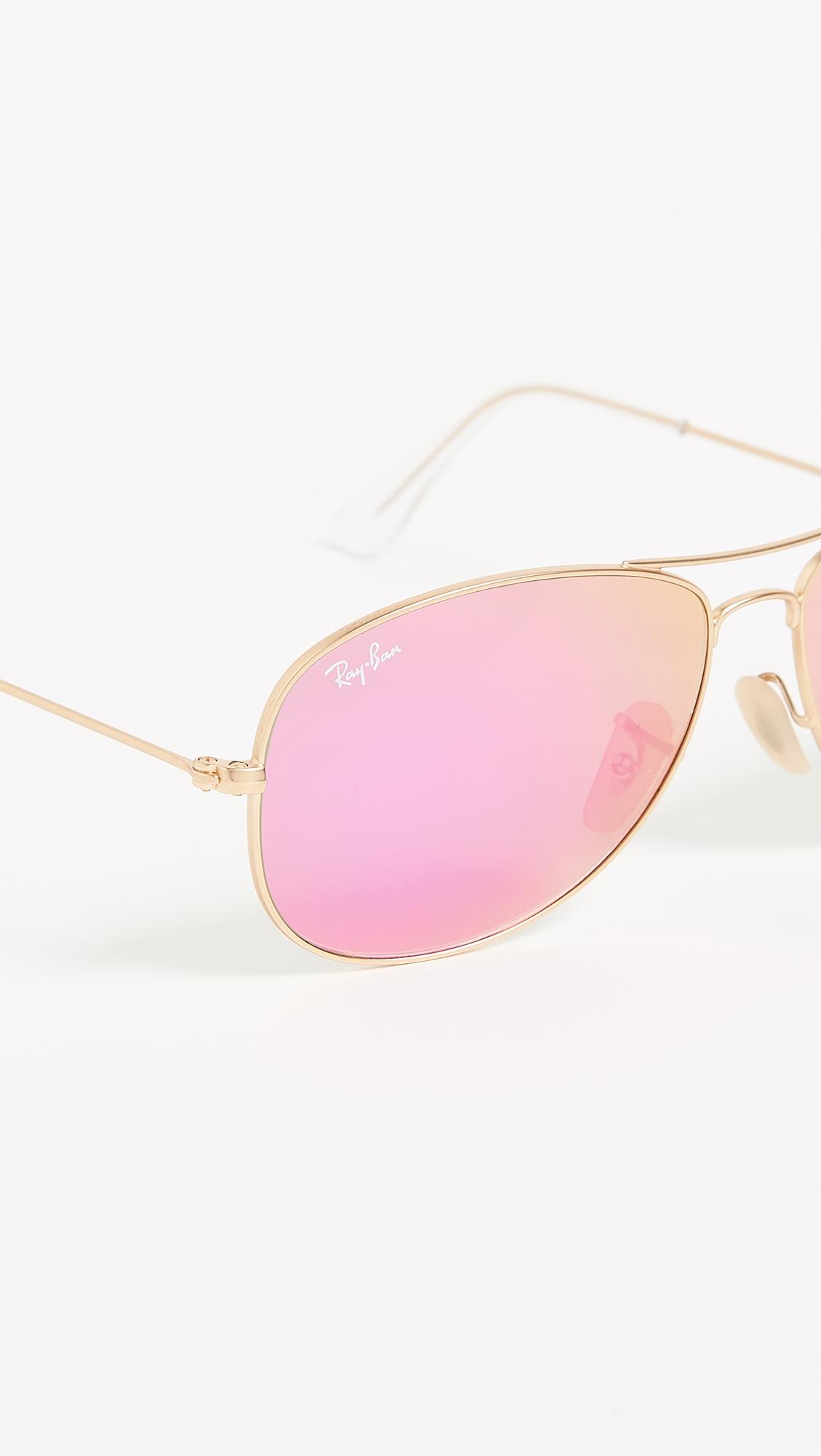 Солнцезащитные очки-авиаторы Shrunken с зеркальными линзами Ray-Ban  (RAYBN4019048461314)