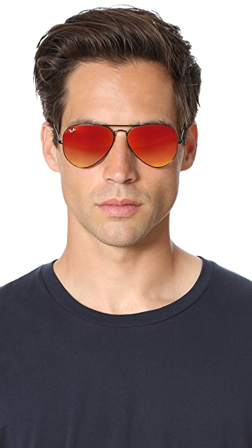 Ray-Ban Flash Lens Aviator Sunglasses