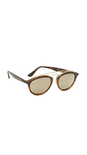 Ray-Ban Круглые солнцезащитные очки-авиаторы
