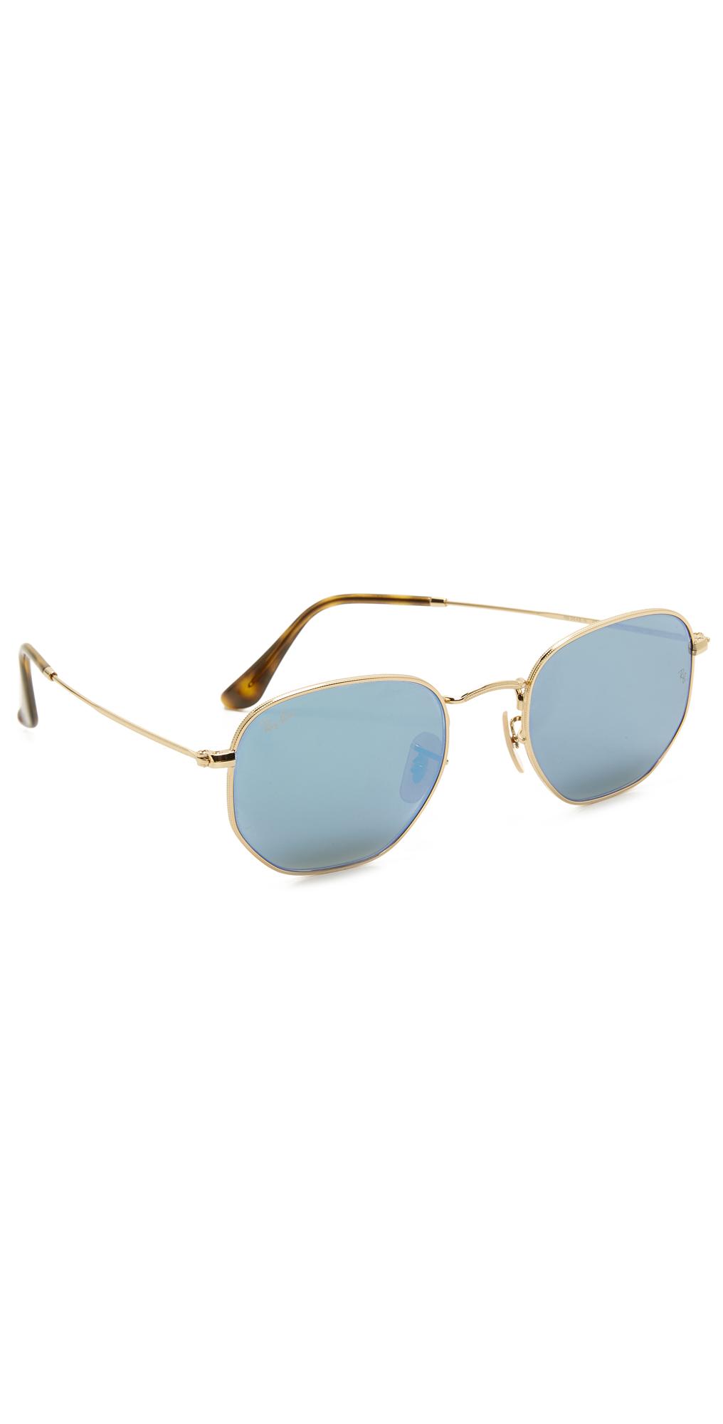 Octagon Mirrored Sunglasses Ray-Ban