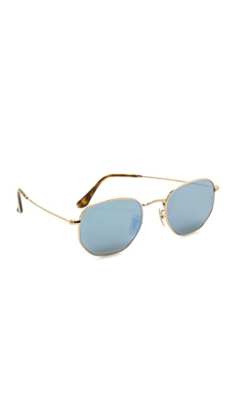 Ray-Ban Octagon Mirrored Sunglasses