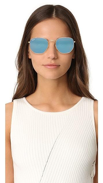 Ray-Ban Octagon Mirrored Sunglasses