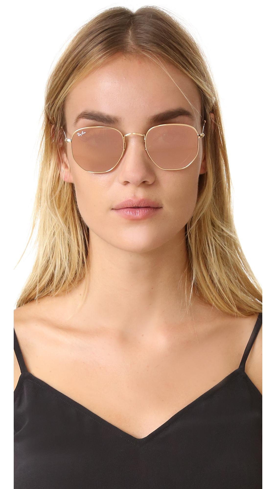 25a56773c9 Ray-Ban RB3548N Hexagonal Mirrored Sunglasses