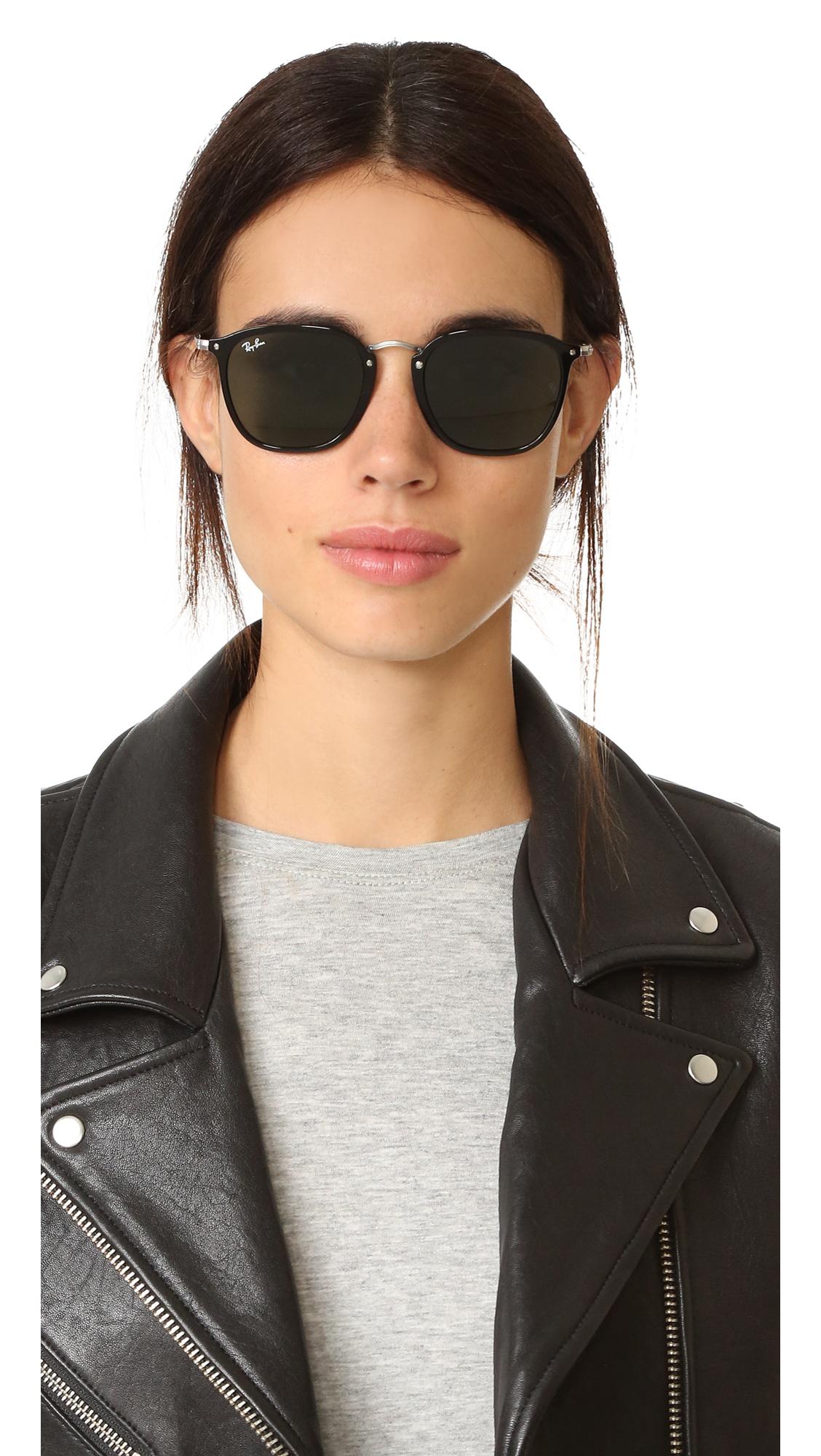 a51e76f1550 Ray-Ban RB2448N Icons Metal Bridge Square Sunglasses