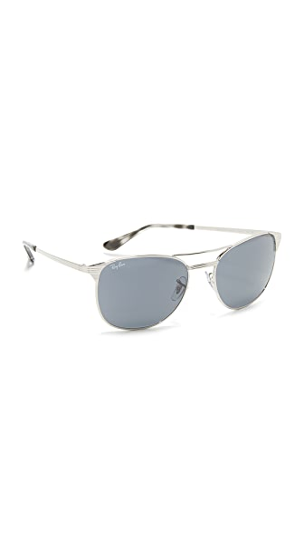 Ray-Ban Etched Retro Aviator Sunglasses