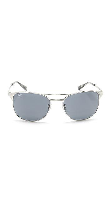 Ray-Ban Etched Retro Aviator Sunglasses