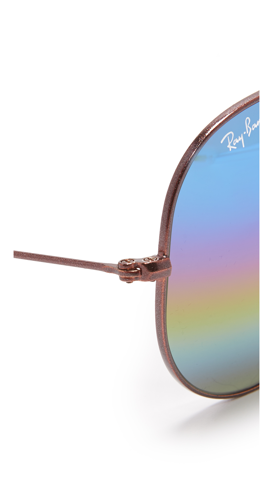 0eb6c11137 Ray-Ban RB3025 Rainbow Mirrored Aviator Sunglasses