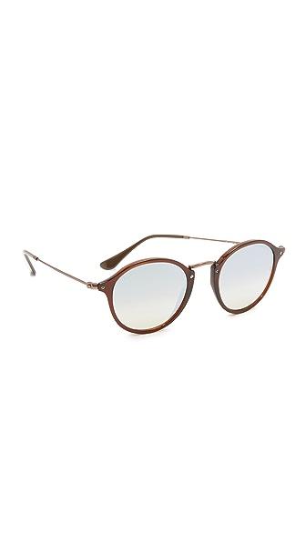 Ray-Ban Солнцезащитные очки в округлой оправе с зеркальными линзами