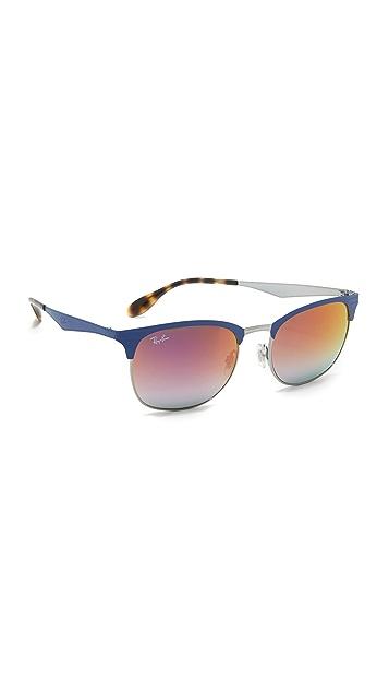 Ray-Ban Matte Clubmaster Sunglasses