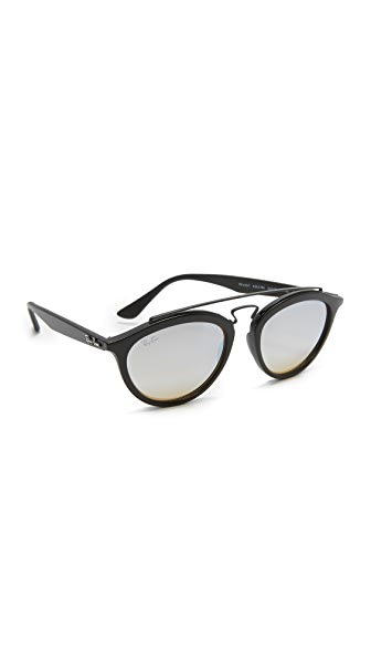 Ray-Ban Круглые зеркальные солнцезащитные очки-авиаторы