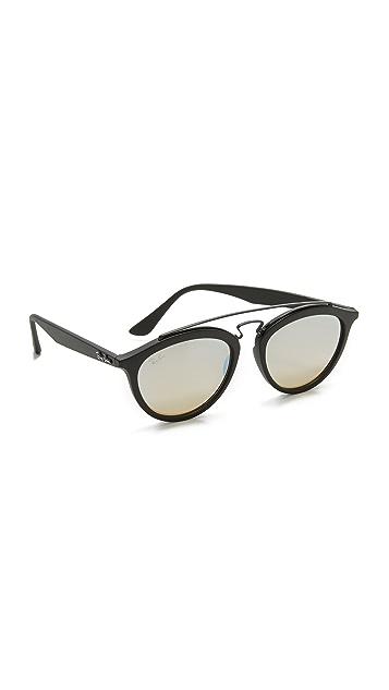 Ray-Ban Round Aviator Mirrored Sunglasses