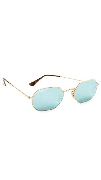 Ray-Ban Octagon Flat Lens Sunglasses