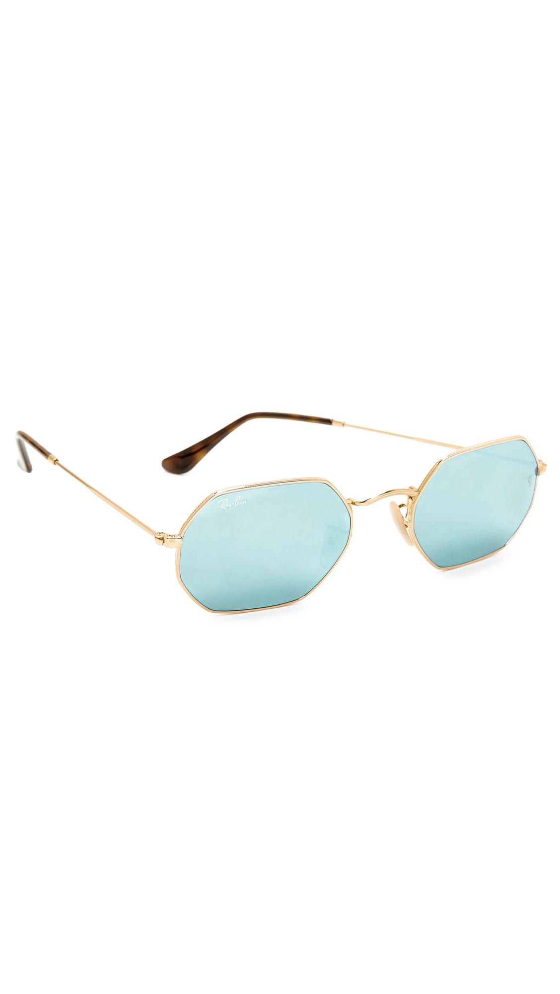 eba0b03ef3 Ray-Ban Octagon Flat Lens Sunglasses