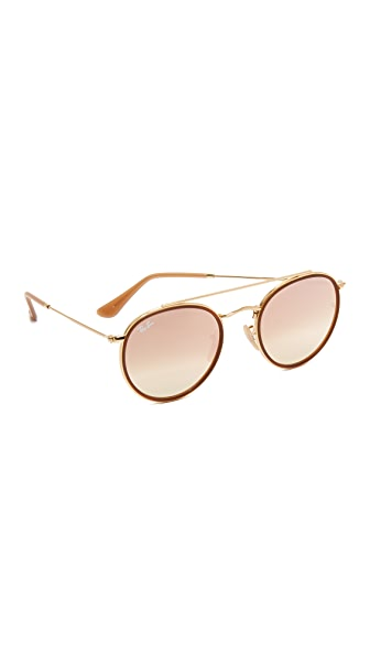 Ray-Ban Round Aviator Flash Sunglasses