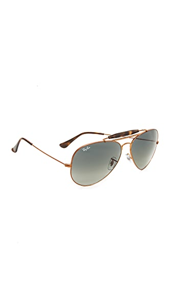 Ray-Ban Aviator Sunglasses - Shiny Bronze/Green Brown