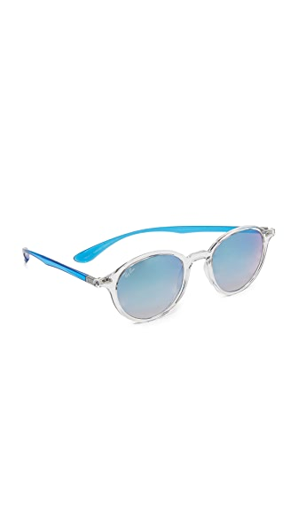 Ray-Ban Tech Liteforce Round Flash Sunglasses - Transparent/Blue