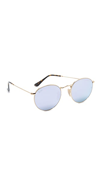 Ray-Ban Phantos Round Sunglasses - Gold/Wisteria