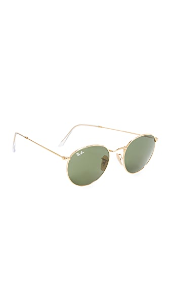 Ray-Ban Phantos Round Sunglasses - Gold/Green