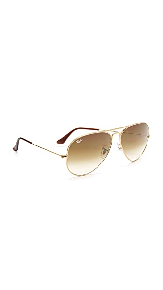 Ray-Ban Oversized Aviator Sunglasses - Gold/Brown