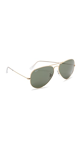 Ray-Ban Oversized Aviator Sunglasses at Shopbop