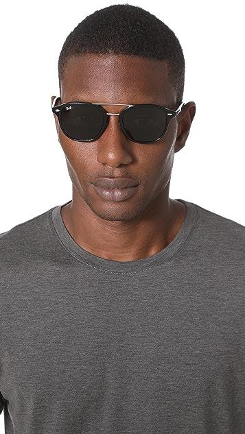 Ray-Ban Double Bridge Square Sunglasses