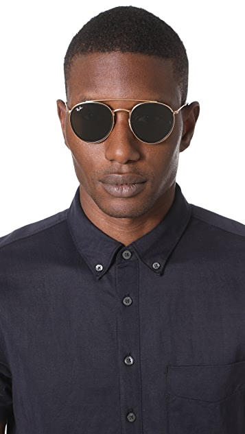 Ray-Ban Double Bridge Round Sunglasses