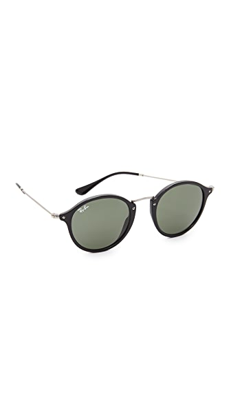 Ray-Ban Round Sunglasses - Black/Green