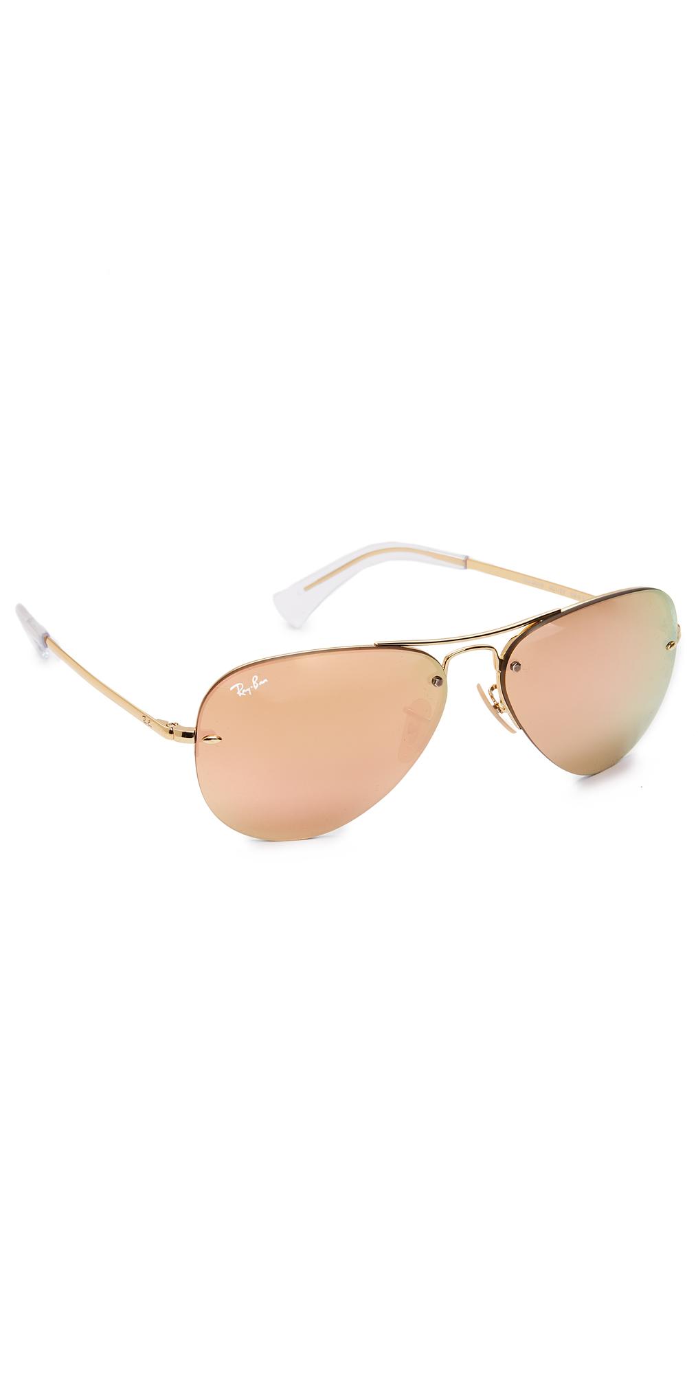 Rimless Aviator Sunglasses Ray-Ban