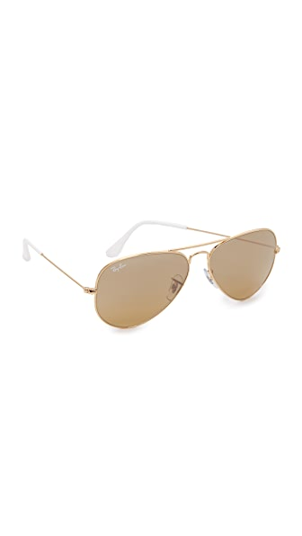Ray-Ban Aviator Sunglasses - Gold/Brown Gold