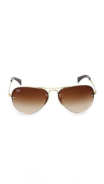 Ray-Ban Rimless Aviator Sunglasses