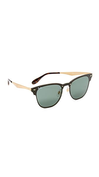 Ray-Ban Wayfarer Flat Sunglasses - Brushed Gold/Green