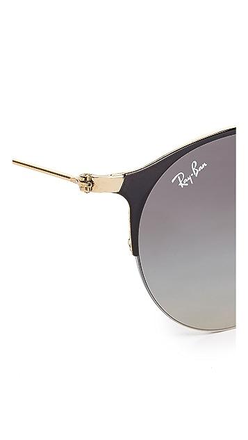 Ray-Ban Phantos Round Semi Rimless Sunglasses