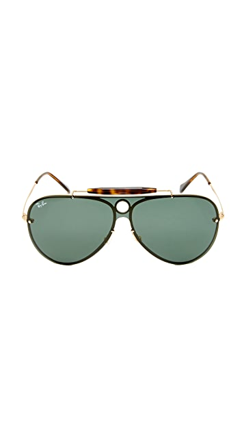 Ray-Ban Pilot Aviator Flat Sunglasses
