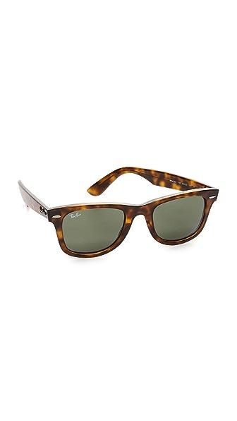 Ray-Ban Wayfarer Straight Sunglasses - Havana/Green