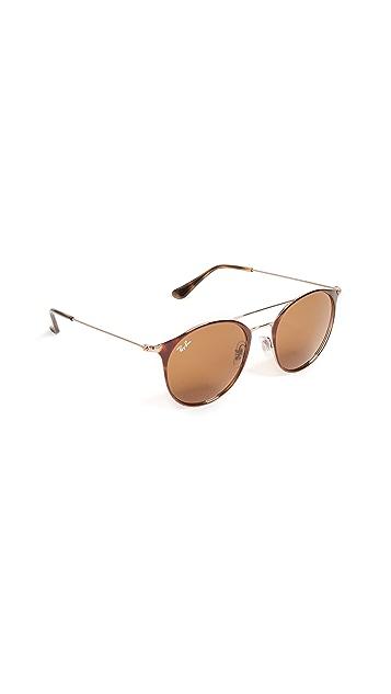 Ray-Ban Round Browbar Sunglasses