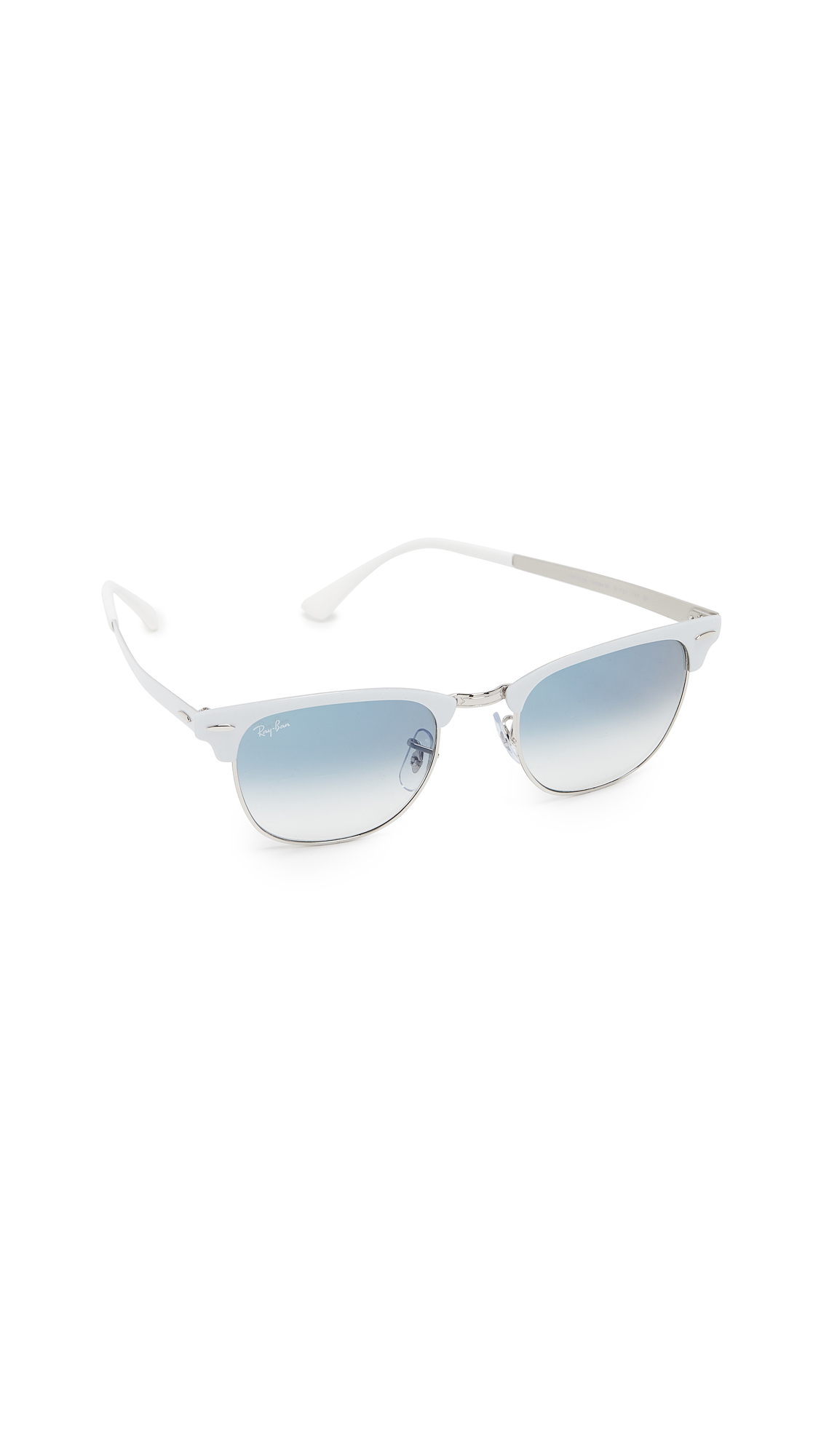 Ray-Ban Clubmaster Sunglasses In White/Blue