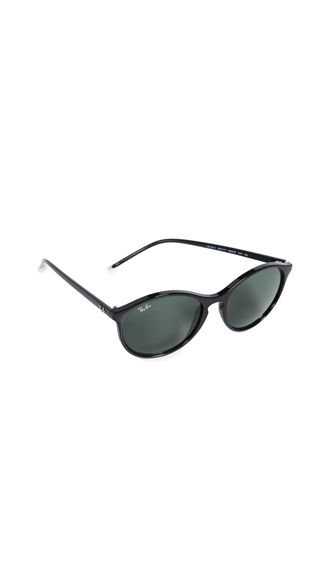 52d74429e05 Modesens Ray Sunglasses Rb4371 Ban Round In Oversized Black xPvZx0w