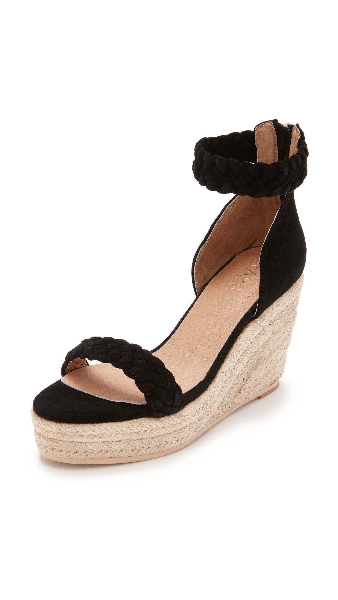 Raye Dara Espadrille Wedges - Black