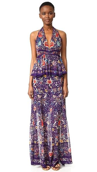 Roberto Cavalli Макси-платье с американской проймой